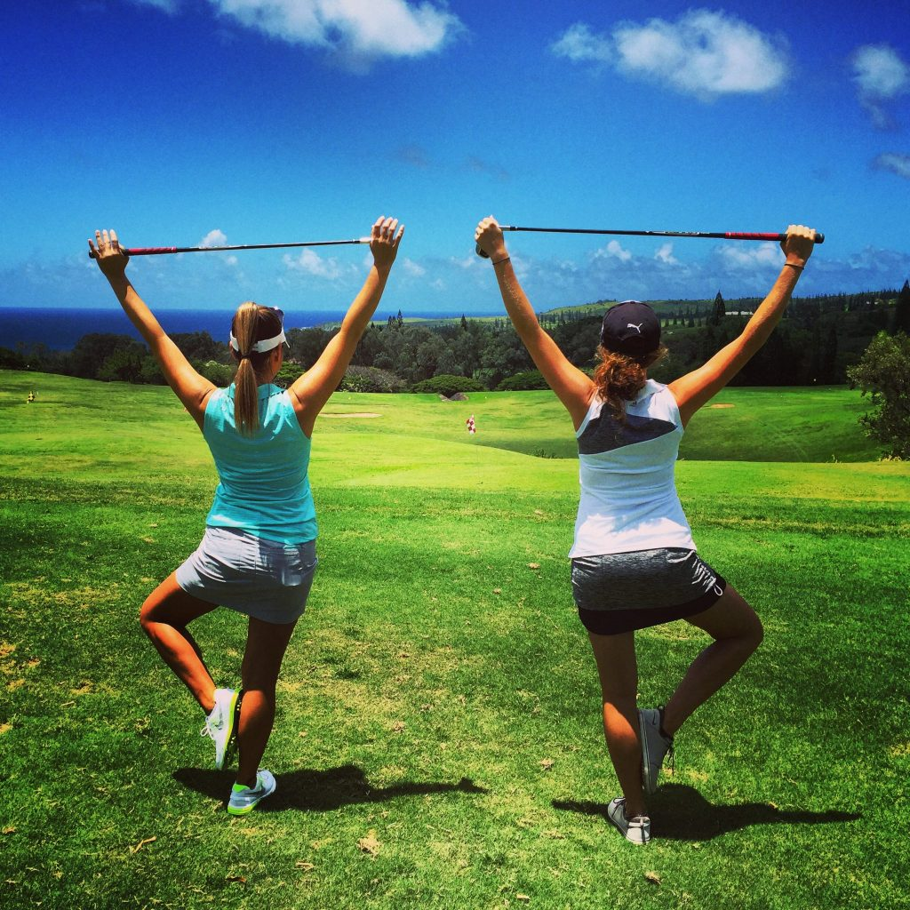 Golf and Yoga Working Together