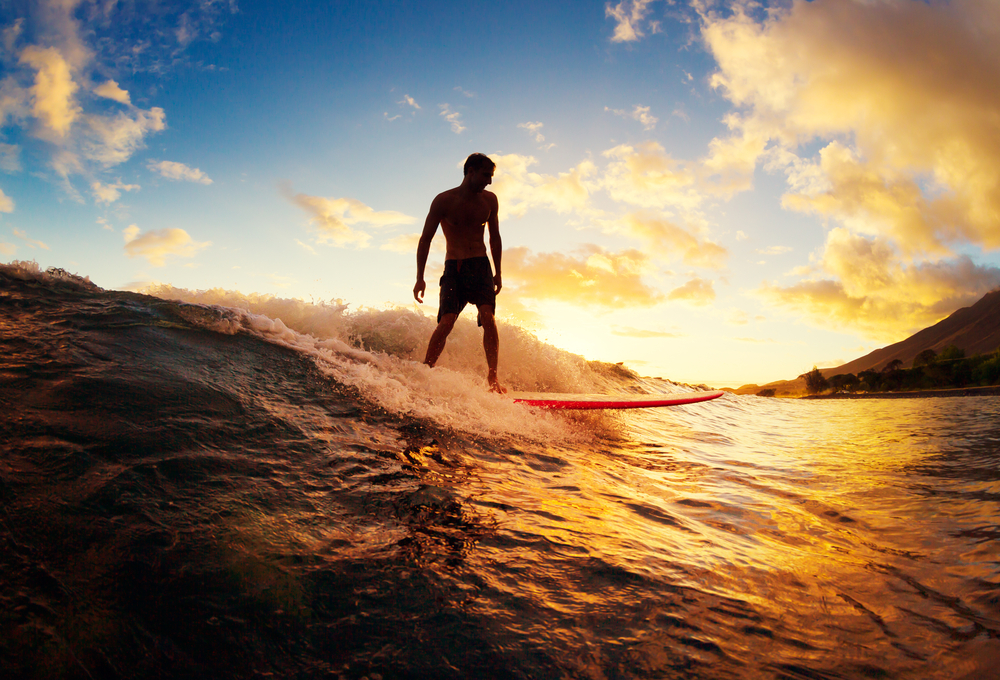 Improve health with surfing