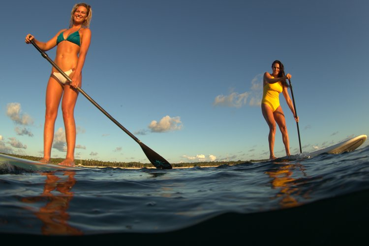sup and surf in rote, indonesia