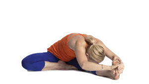 Yoga For Mental Health: one-legged head to knee pose